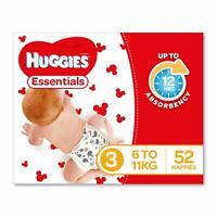 Huggies Essentials Nappies Size 3 Crawler (6-11kg) 52 Count