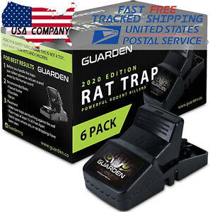 6Pack Large Rat Traps  Big Reusable Snap Traps Mouse Killer Easy to Bait and Set