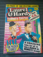 LARRY HARMONS LAUREL & HARDY SUMMER SPECIAL COMIC STRIPS NICE COPY B&W EARLY 80s