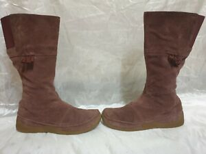 clarks womens suede boots size uk 7 / eu 41