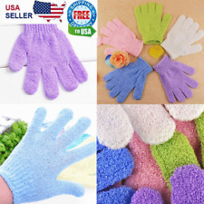 Exfoliating Spa Bath Gloves Shower Soap Clean Hygiene Body Scrub Loofah Massage
