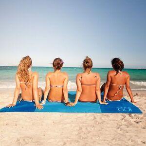 """Beats ABETER  Beach Mat Blanket Sand Free Proof Magic Sandless Sand Dirt 79""""*79"""""""