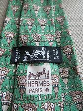 HERMES 100% SILK TIE    7625 TA