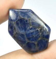 25.70 Ct 100% Natural Trapiche Malawi Blue Sapphire Polished Fancy Cabochon -783