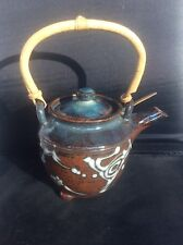 James Brooke Appleton York Studio Pottery Tea Kettle Chinese Japanese Bamboo