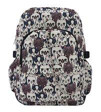 SMILING CAT Cool Canvas Backpack Rucksack School College Travel Goth Rock Bag