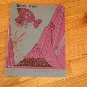 Canyon Bomber Video Arcade Game Manual, Atari 1977