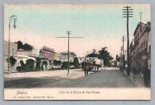 Vintage UDB SAN COSME MEXICO CITY,  Street Scene, Trolley  Lapati y bert