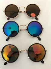 Großhandel Steampunk runde verspiegelte Retro Fashion Sonnenbrille Herren Damen Unisex