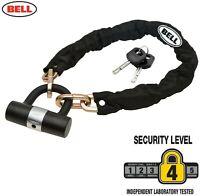 Heavy Duty Bicycle Bike Cycle Chain Cable & Mini D U Shackle Lock Padlock 2 Keys
