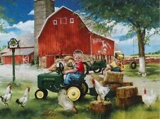 Jigsaw puzzle Farm Life Deere Growing up Country collector's tin 1000 piece NEW