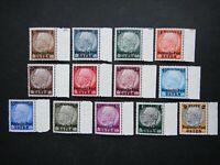 Germany Nazi 1939 Stamps MINT von Hindenburg Overprint 1934 Surcharged Generalgo