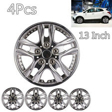 DIY 4Pcs 13Inch ABS Car Chrome Wheel Rim Skin Cover Hub Caps Hubcaps Wheel Cover