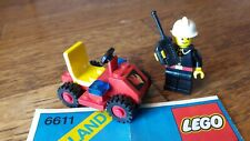 Legoland LEGO 6611 Fire Chief's Car 1981 firetruck vintage retro w/instructions