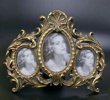 Barock Rokoko Bilderrahmen Fotorahmen Collage 3 Bilder Rahmen Oval Gold Antik