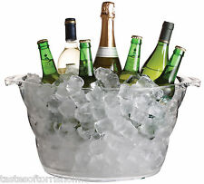 Kitchen Craft Bar Craft Acrylic Large Oval Party Drinks Pail / Cooler Ice Bucket