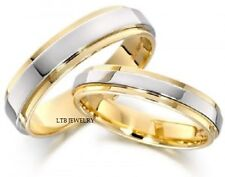 10K TWO TONE GOLD  HIS & HERS WEDDING BANDS, MATCHING WEDDING RINGS SET
