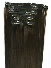 70g 120g Clip In 100% Real Remy Human Hair Extensions 16 18 20 24 26 28 30 Inch