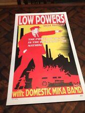 1997 Frank Kozik LOW POWERS Domestic Mika Band SILKSCREEN concert POSTER