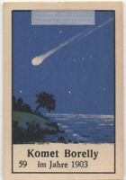 Borrelly  Comet  Solar System Telescope Astronomy 1930s Ad Trade  Card