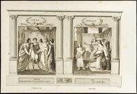 1825 - Incisione Antica Corvo & Racine ( Cinna & Athalie) - Teatro