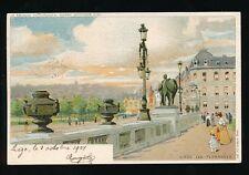Belgium LIEGE Les Terraces  artist F Ranot u/b PPC Used 1907