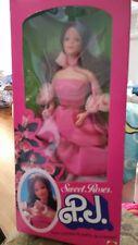 Sweet Roses P.J. Vintage BARBIE Doll 1983 ~ # 7455 ~ Pink Satiny dress ~ NRFB