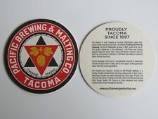 Beer Breweriana Coaster ~ PACIFIC Brewing & Malting CoMPANY ~ Tacoma, WASHINGTON