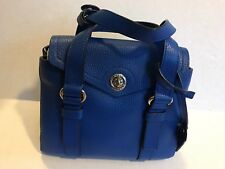 Marc by Marc Jacobs Working Girl Dolly Leather Satchel Purse Neptune Blue