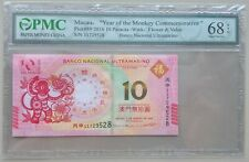 2016 China Macau 10 Patacas Commemorative PMC 68EPQ