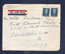 Netherlands Antilles  Saba The Bottom airmail cover to USA (cover defects)