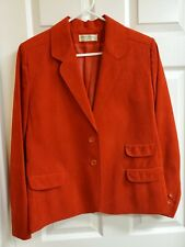 Vintage Adolph Schuman For Lilli Ann Ladies Red Suede Blazer/Jacket Size 10