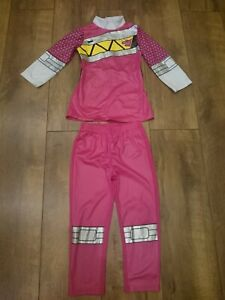 PINK POWER RANGER DINO CHARGE FANCY DRESS COSTUME AGE 3-4