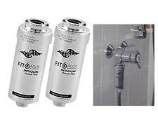 2x FILTRO fitaqua antiscaling FILTRO ACQUA PER DOCCIA CONTRO cloro e calce