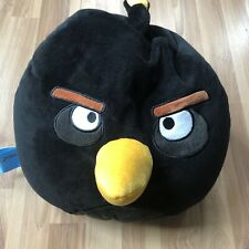 "Black Bird Bomb Angry Birds 15"" Large Pillow Bean Bag Plush Cuddly Rovio"