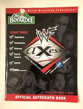 WWF WWE Axess Official Autograph Book w/ Autographs from WrestleMania 2000 Week!