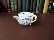 ANTIQUE SMALL Invalid Feeder Cup-German Blue & White Invalid Feeder Cup