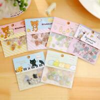 80pcs/lot DIY Cute Kawaii Transparent PVC Stickers Stickers &L Rilakkuma Lo X9L4