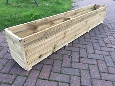 6ft SUPER JUMBO EXTRA LARGE Long Wooden Planter Trough Decking Garden Plant Tub
