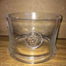 Vintage Dartington Crystal Grape Mini Ice Bucket Vase Wine Bottle Holder Cooler