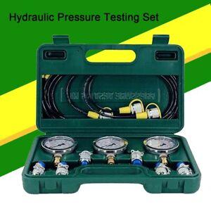 Hydraulic Pressure Gauge Kit, Excavator Parts Hydraulic Tester Pressure Test Kit