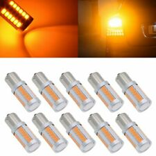 10x Amber 1156PY BAU15S PY21W LED Bulbs 33SMD Car Tail Turn Brake Reverse Lights