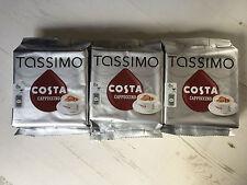 Tassimo Costa Cappuccino Dosettes Café 3 Packs 24 Grand Taille De Bonnet