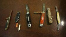 LOT OF 8  USED POCKET KNIVES CAMILLUS KAMP KING ROBELSON JAPAN AS IS LOT 21