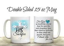 John 3:16 Bible Verse Scripture Coffee Mug God Christian Inspirational Cup