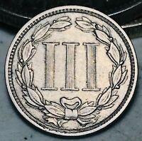 1881 Three Cent Nickel Piece 3C High Grade Good Date Choice US Type Coin CC5471