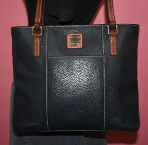 DOONEY & BOURKE LEXINGTON Navy Blue Leather Shoulder Tote Purse Bag Shopper