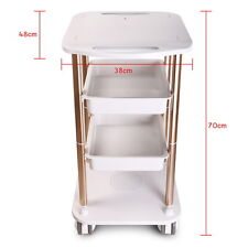 Beauty Spa Hairdresser Coloring Hair Salon Trolley Rolling Storage Holder Stand