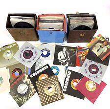 Lot of 140 Vintage 45 Vinyl Records 1960s - 1980s Variety Rock Hip-Hop R&B Pop