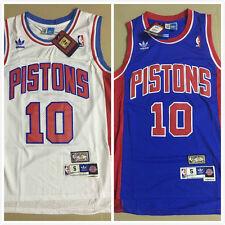 ... BASKETBALL SHIRT Detroit Pistons 10 Dennis Rodman Throwback Swingman  Stitched bluewhite Jersey ... 95758d195